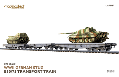 Picture of WWII German STUG E50/75 transport train